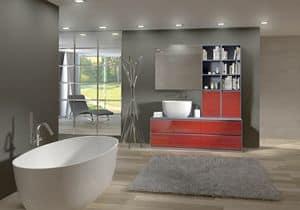 Torana TR 009, Mobile da bagno con lavabo e libreria