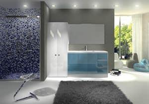 Torana TR 012, Mobile con lavabo, con piano in finitura cemento