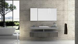 Torana TR 002, Composizione da bagno con finitura cemento