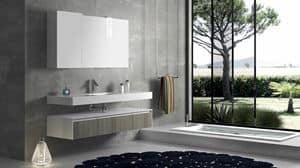 Torana TR 007, Composizione da bagno con finiture frontali tranch�