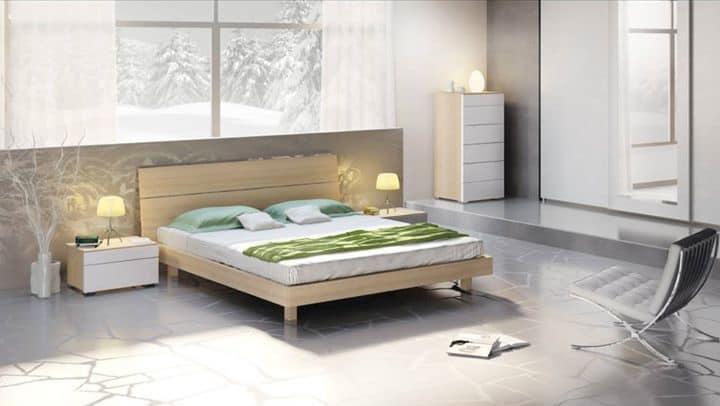Arredamento per camera da letto letto in legno dal design - Letto legno design ...