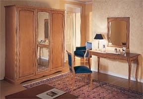 Collezione Medea, Raffinato arredo per camera hotel, con elegante finitura in legno di ciliegio