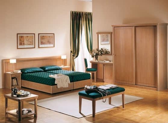 Arredo camera su misura per albergo e b b idfdesign for Arredi per alberghi e hotel