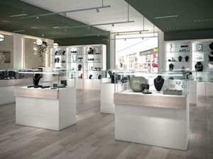 COM/QF16, Vetrine con serratura per gioiellerie e negozi