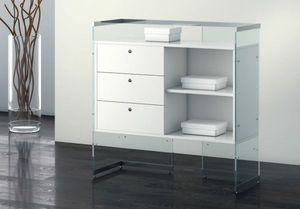 Glassystem COM/GS14, Banco con cassetti per negozio