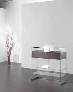 Glassystem COM/GS15, Banco con cassetto per negozio