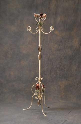 AT.7775/3, Attaccapanni in ferro battuto decorato