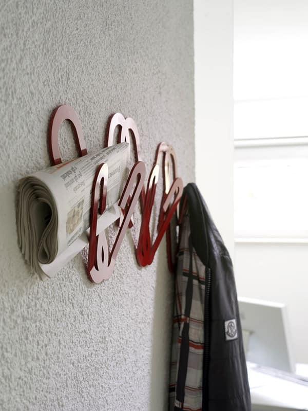 Clips, Attaccapanni da muro in metallo, per Ufficio moderno
