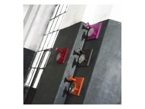 Flauto, Appendiabiti da parete in legno, con piccoli specchi