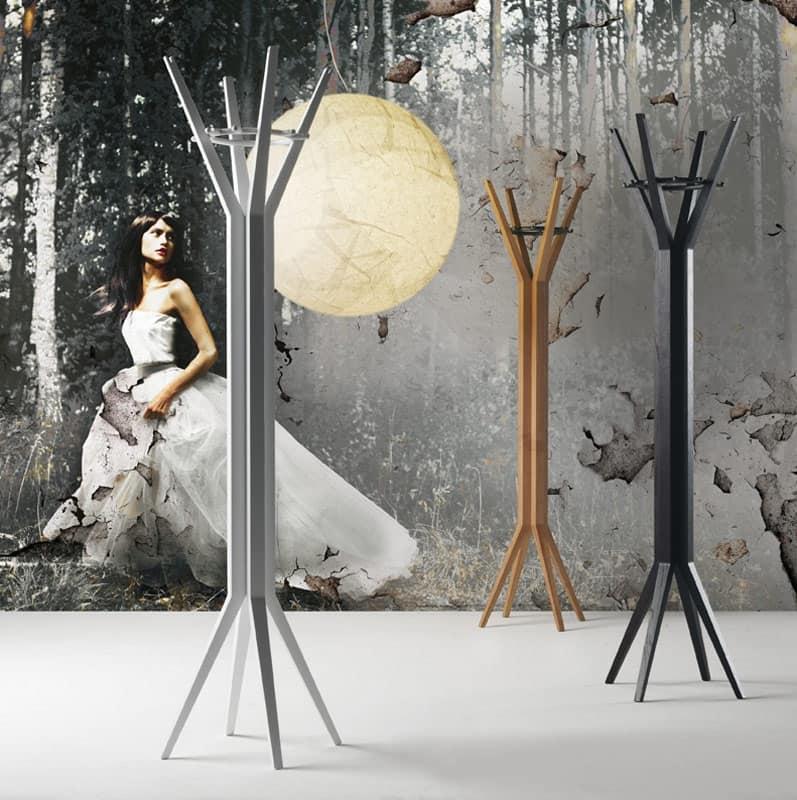 appendiabiti moderni in legno per soggiorno idfdesign