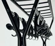 Hook stander, Appendiabiti mobile su ruote, in acciaio verniciato
