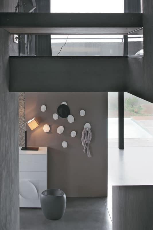 Appendiabiti da parete in metacrilato bicolore soggiorno idfdesign - Portabiti da parete ...