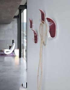 IVY, Appendiabiti da parete, in metacrilato bicolore, soggiorno