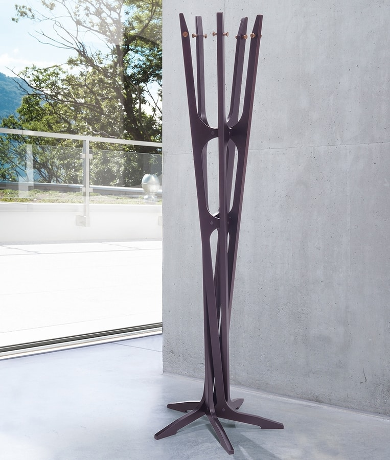 Maestrale, Appendiabiti a piantana in legno di betulla