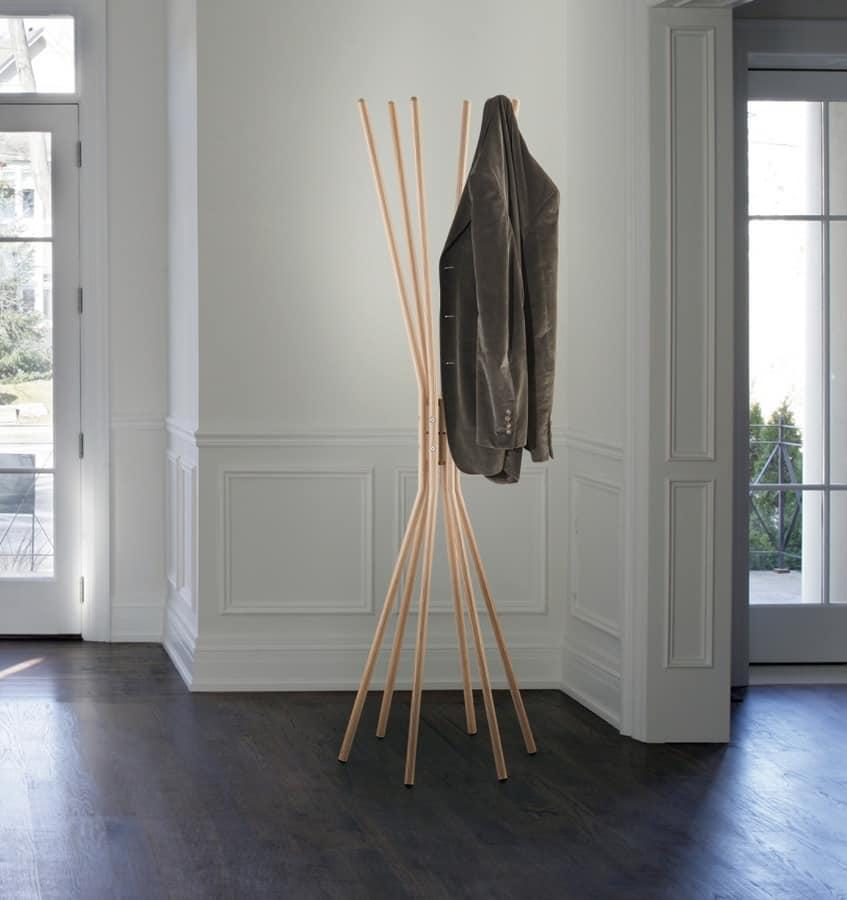 Mikado, Portabiti in acciaio, con finiture in legno