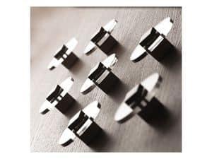 Plug.in, Appendiabiti in acciaio cromato, fissaggio a muro