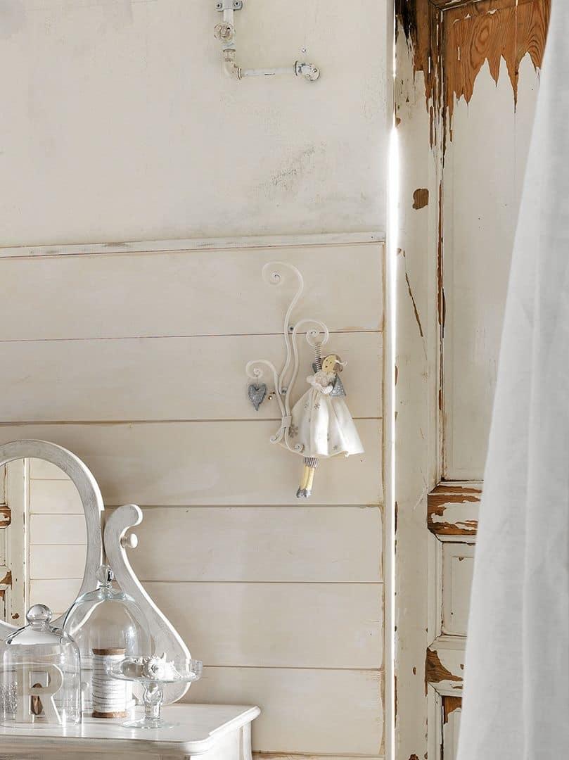 Appendiabiti da parete con 3 supporti in ferro pieno idfdesign - Appendiabiti con specchio da parete ...