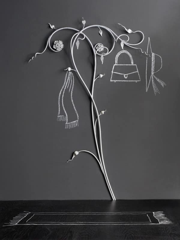 Attaccapanni a muro in ferro battuto vari colori idfdesign - Appendiabiti a parete moderni ...