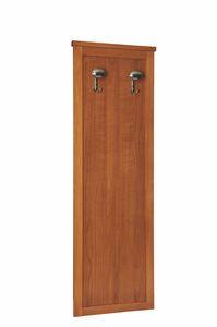 Zeno pannello appendiabiti, Pannello in legno con appendiabiti, per albergo