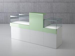 Quadratum frame comp. 03, Banconi modulari per gioellerie