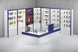 COM/QF10, Bancone per negozi di elettronica con vetrine