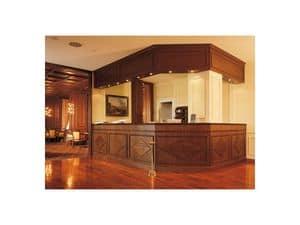 Regency Hotel Reception, Bancone reception per hotel, lavorazioni artigianali