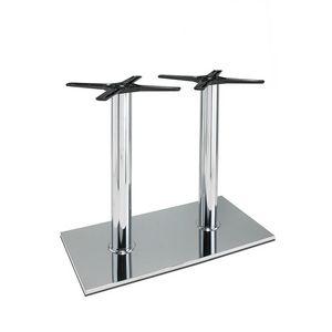 3024, Base rettangolare per tavolini bar, in acciaio, con 2 colonne