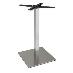 969, Base quadra per tavolini bar, in acciaio satinato