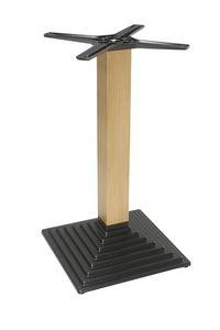 970, Base in ghisa con colonna lignea, per tavolini bar