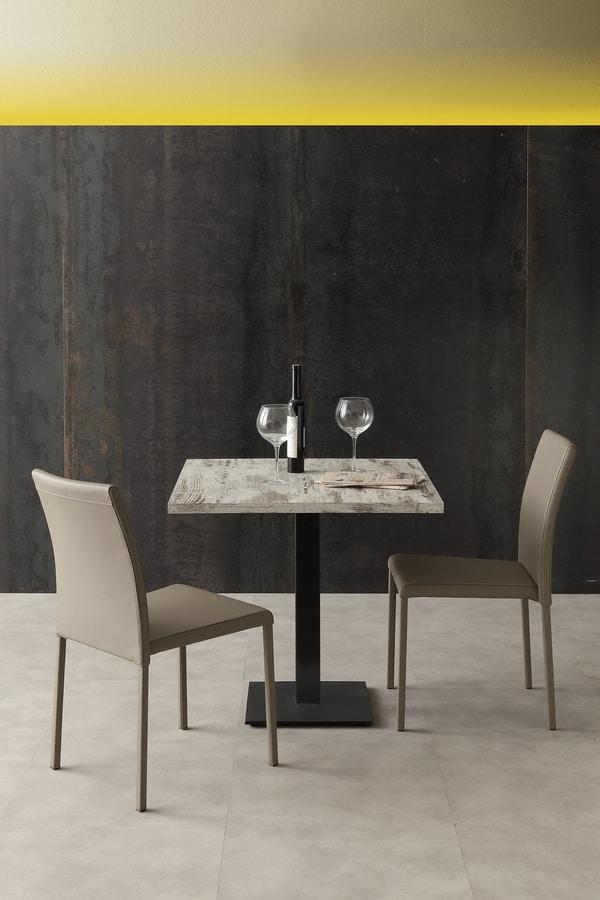 Art. 1032 Piatta, Base per tavolo con piedini regolabili