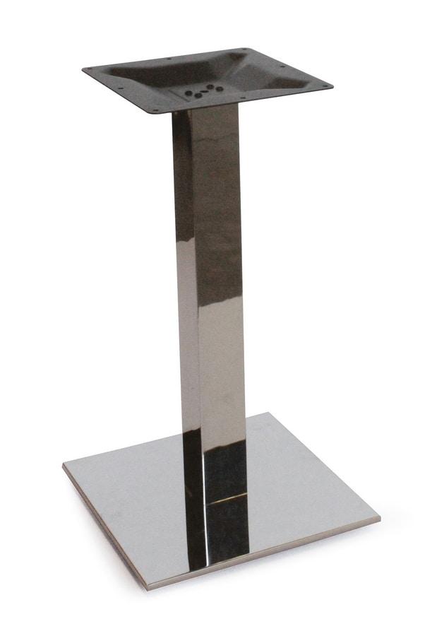 Art. 1037 Kuadra, Base per tavolino in acciaio inox satinato o lucido