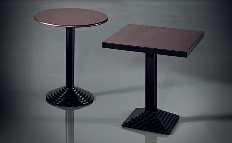 ART. 183, Base in metallo cromato, varie finiture, per caffetterie