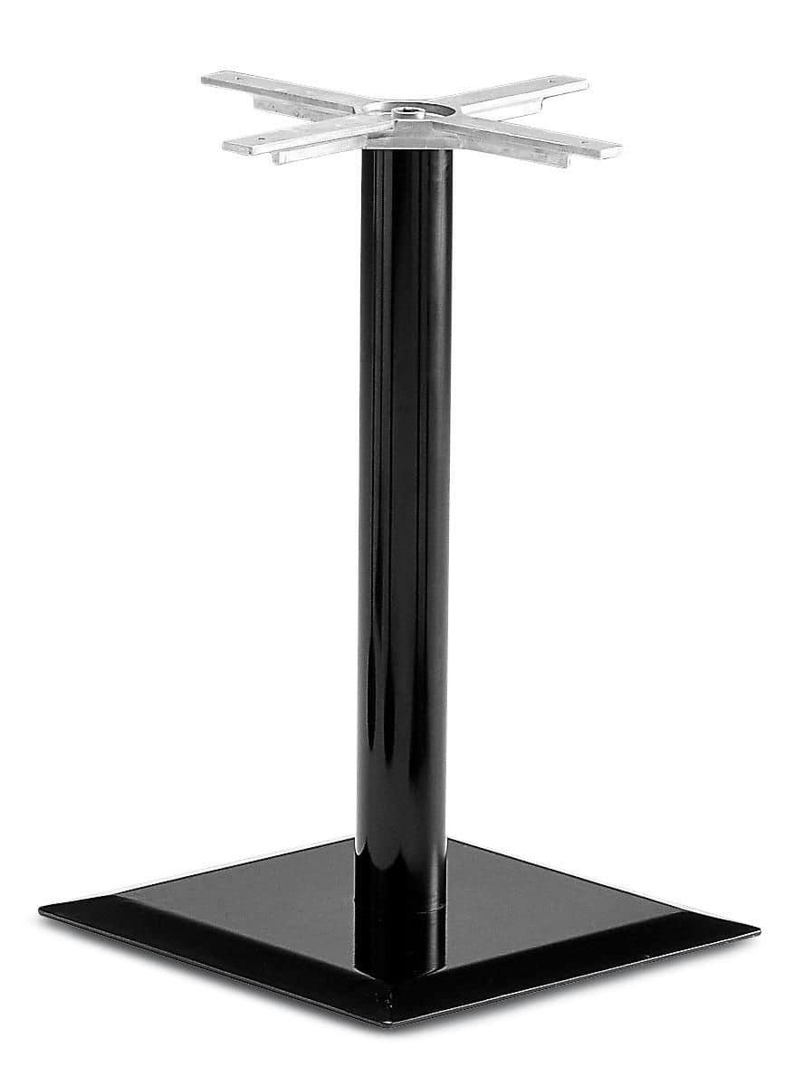 Base quadrata per tavolo con un tubo centrale in metallo for Bloccare i piani domestici