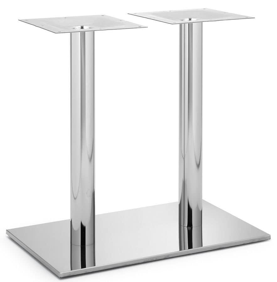 Art.257, Base in metallo per tavolo rettangolare disponibile in varie finiture
