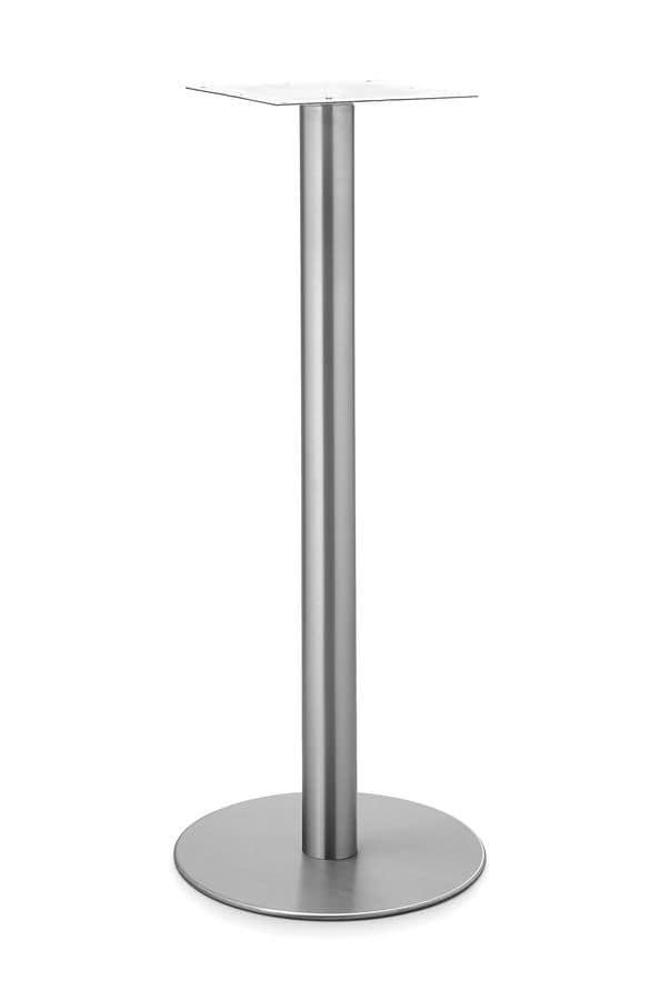 Art.290/H 1100, Base tonda per tavolo, struttura in metallo, per ambienti contract e domestica