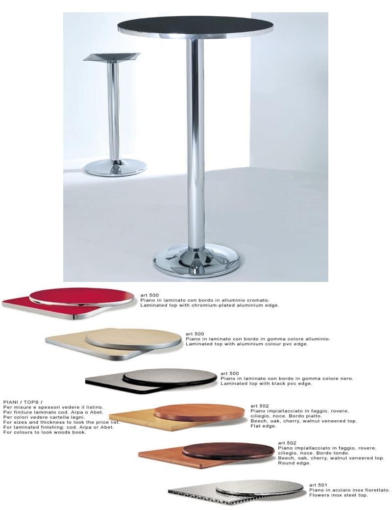 ART. 420, Base in metallo cromato o verniciato per tavolini da bar