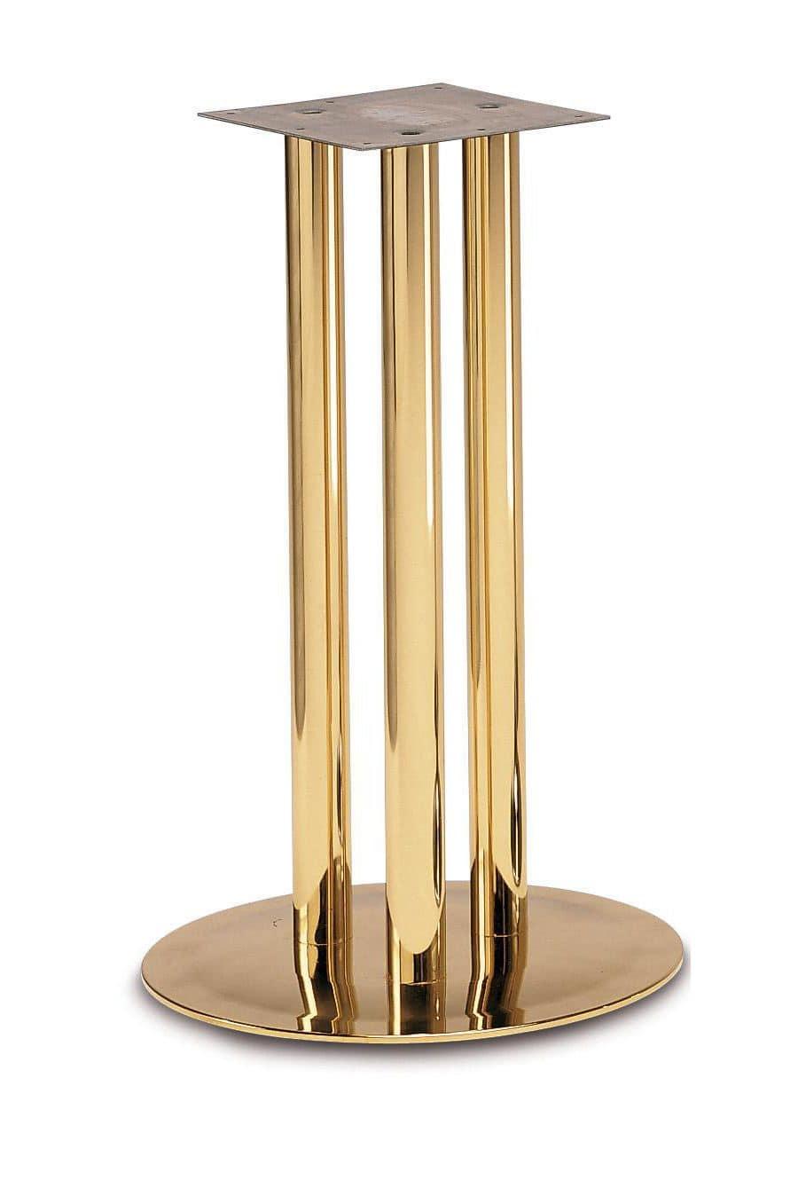 Art.500, Base tonda per tavolo, struttura a 3 tubi, per ambiente contract e domestico
