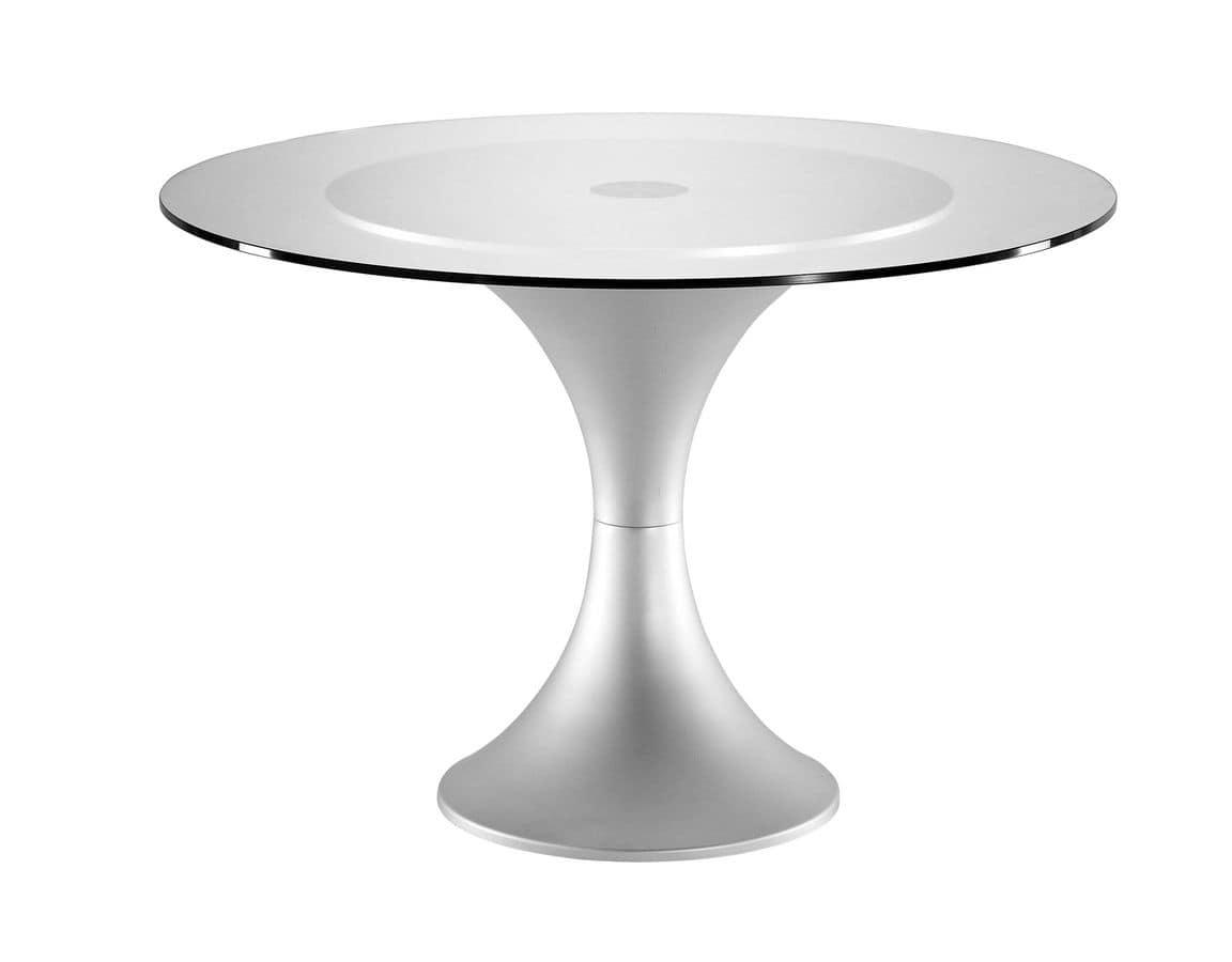 Art.730/AL, Base tonda per tavolo, struttura in alluminio, per ambienti contract e domestici