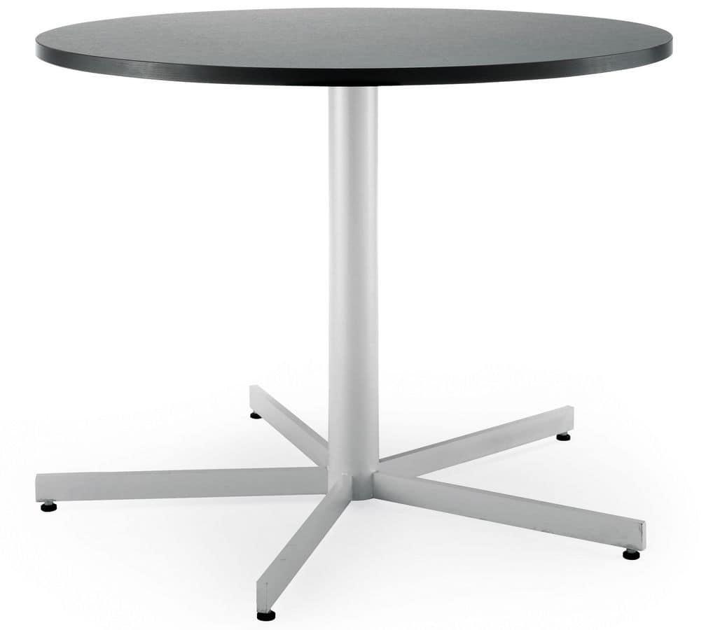 Art.Max/5, Base per tavolo, struttura in metallo, per ambienti contract