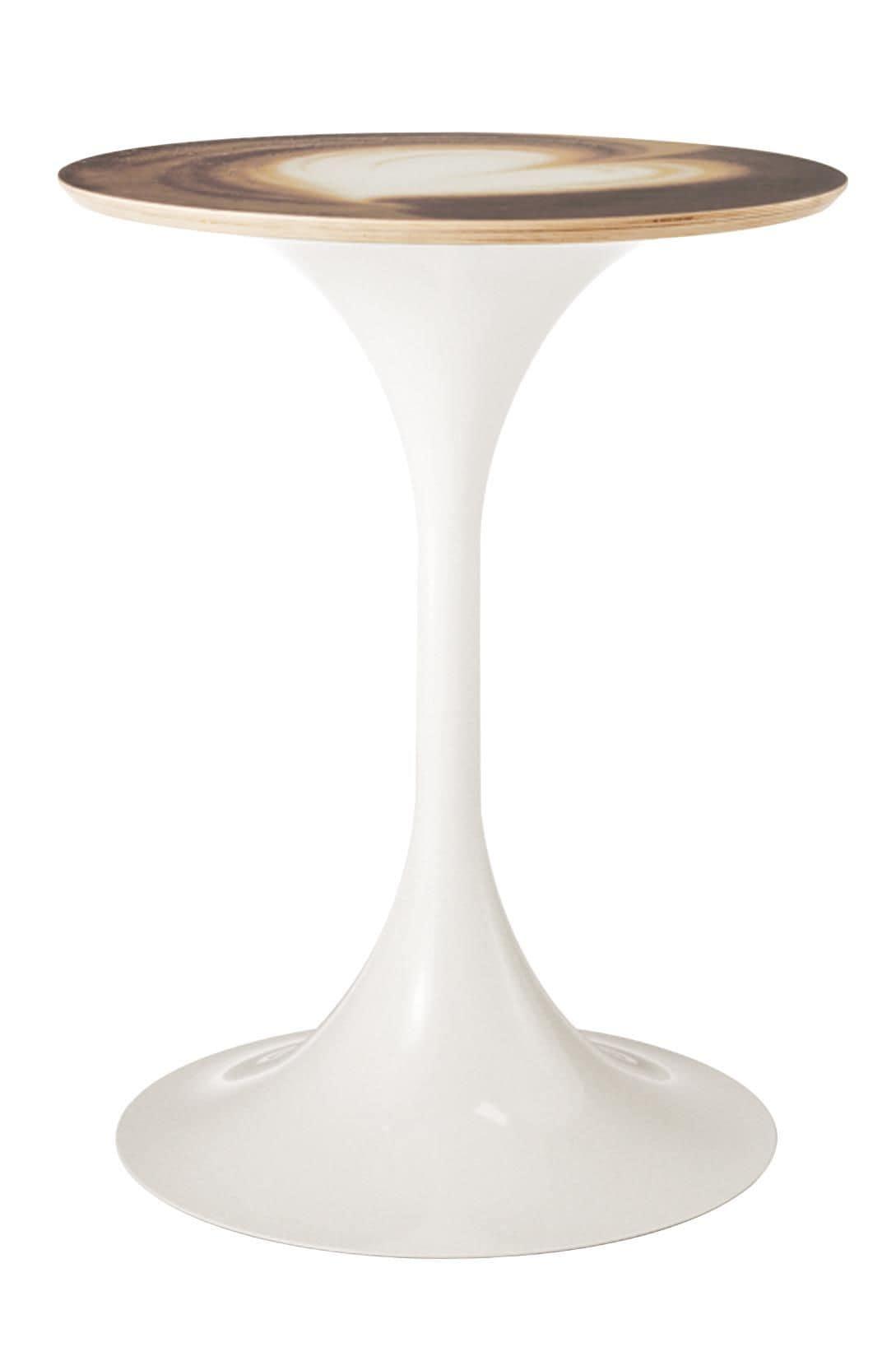 Art.Sablier, Base tonda per tavolo, in stile contemporaneo, per ambienti contract e domestici