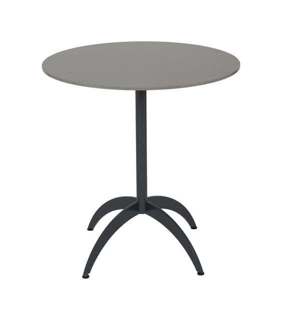 Art.Target, Base di tavolo in tubo tondo con gambe sagomate