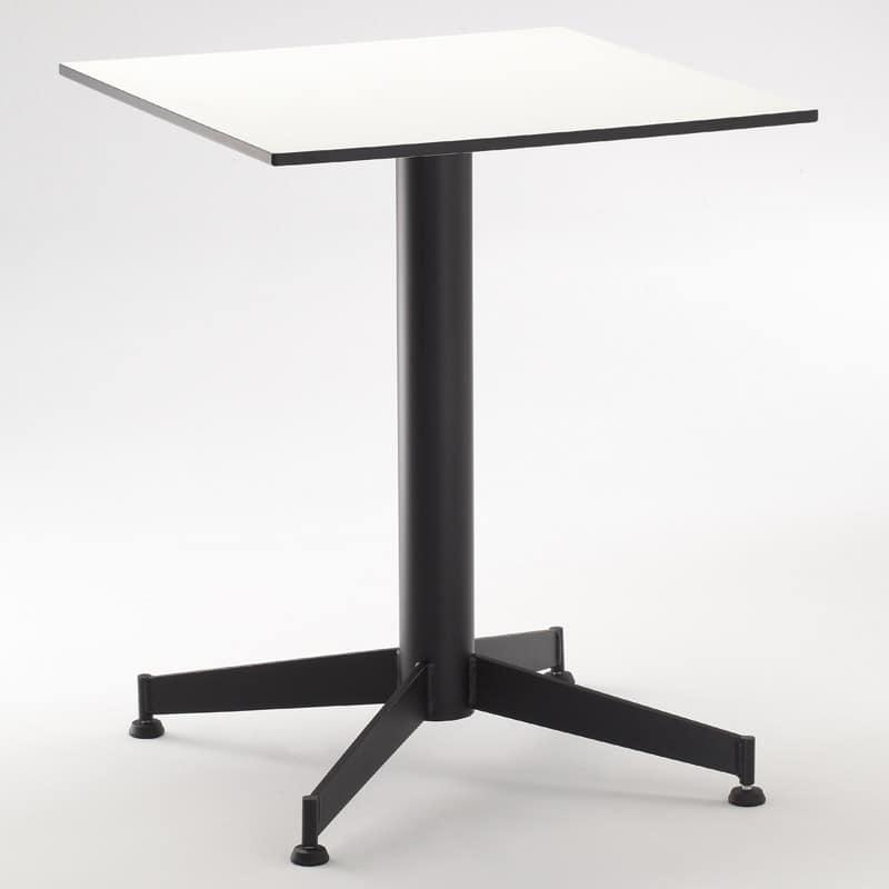 FT 022, Base per tavolo bar, con 4 razze, vari colori, per caffè
