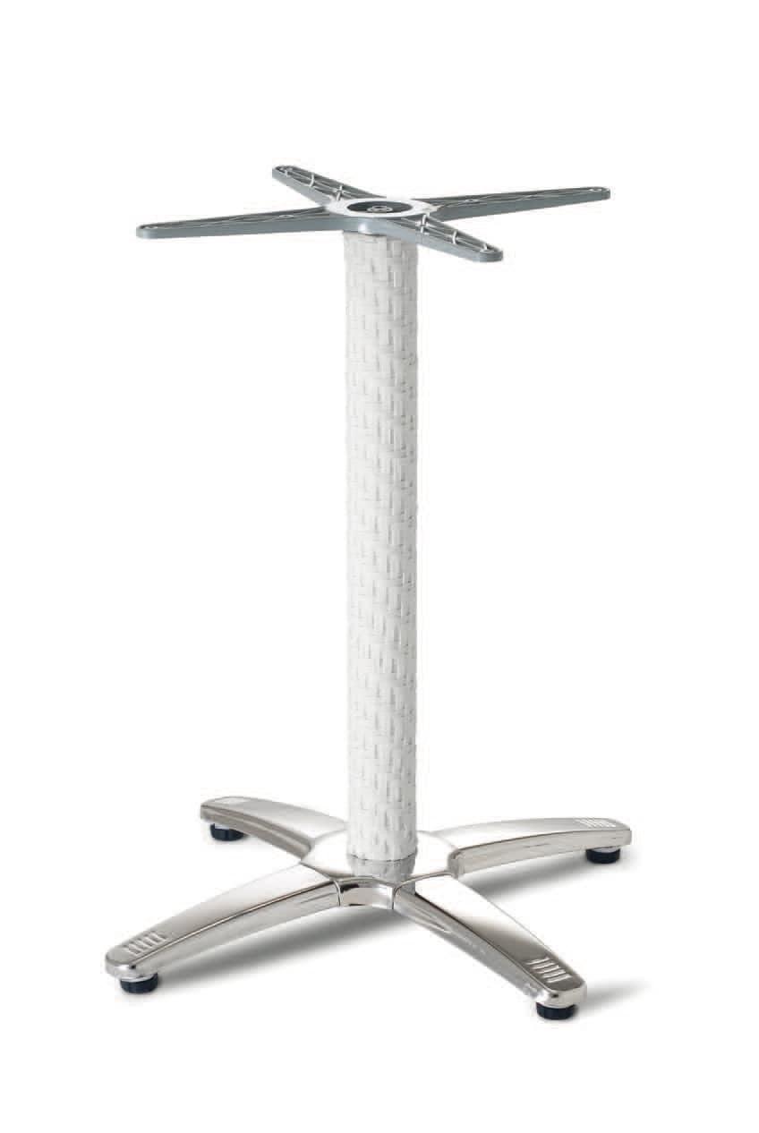 FT 048 / R, Base intrecciata per tavolino, in alluminio e acciaio