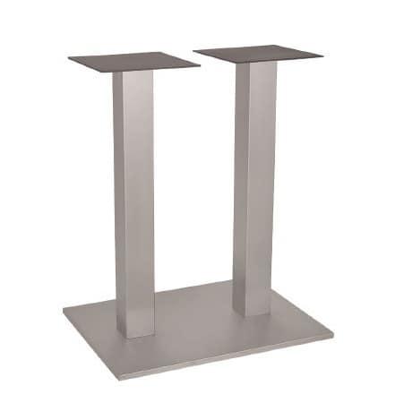 FT 060 Doppia Colonna, Fusti per tavolo in metallo, con 2 colonne, per enoteca