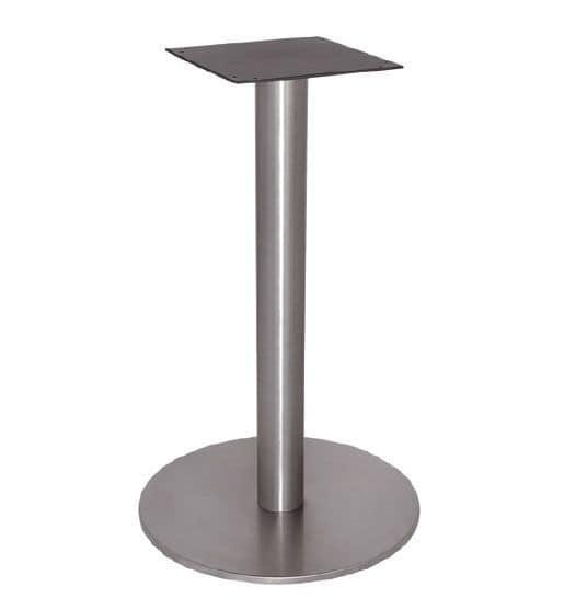 FT 065, Base tavolo per caffè, interamente in acciaio lucido