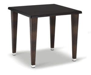 FT 2026, Base per tavolino, in alluminio intrecciato, con 4 gambe