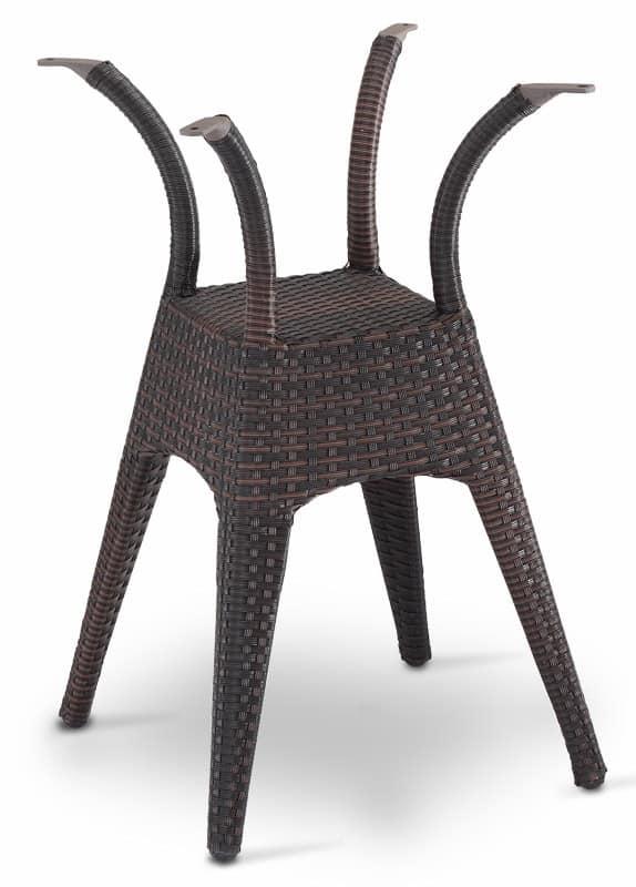 FT 2028, Base tavolo robusta in alluminio intrecciata, per Gelaterie