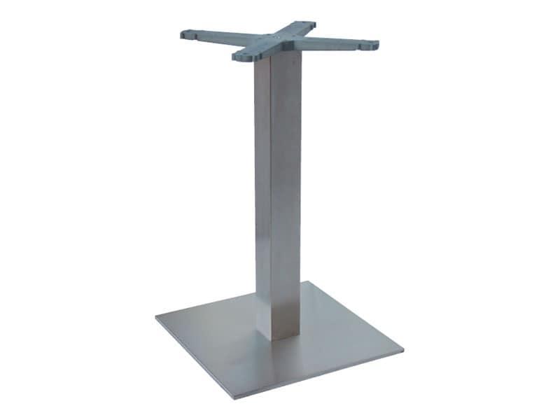 Indoor base cod. I45x45, Base in acciaio inox per tavolino gelaterie