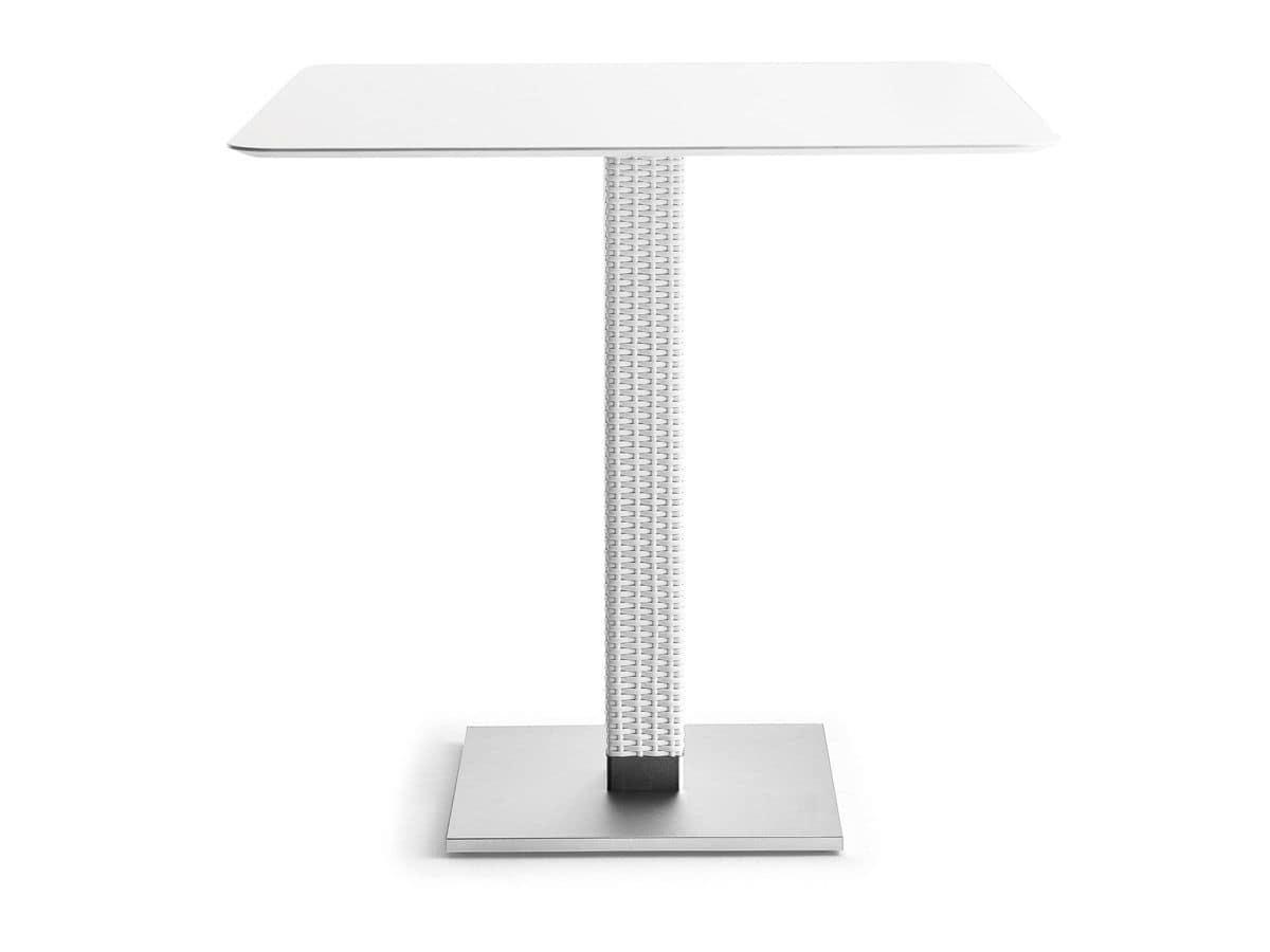 Base in alluminio anodizzato, per tavoli da esterno | IDFdesign
