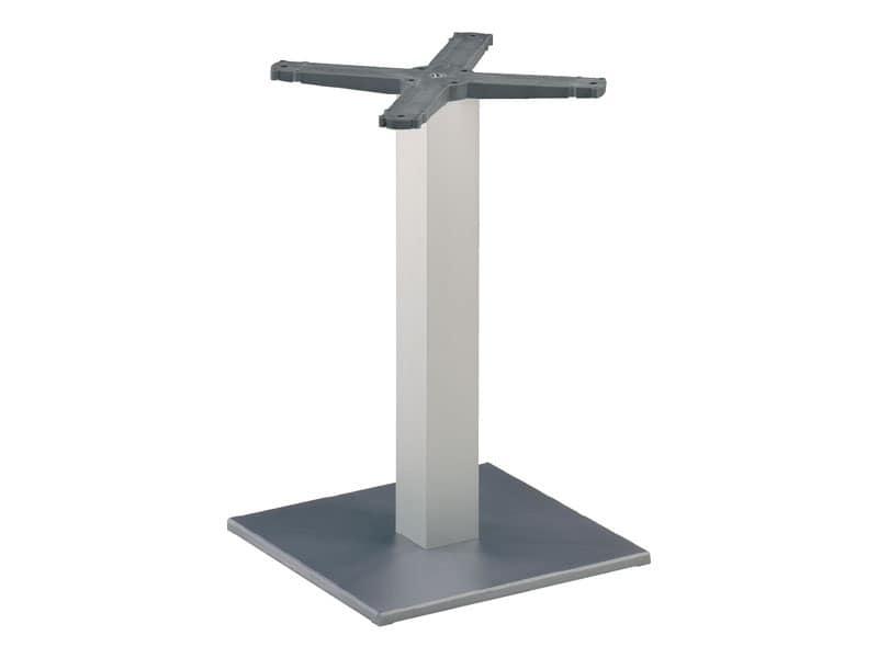 Square base cod. BQJ, Base per tavolo da bar, colonna in alluminio anodizzato